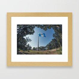 Guatemala Flag Framed Art Print
