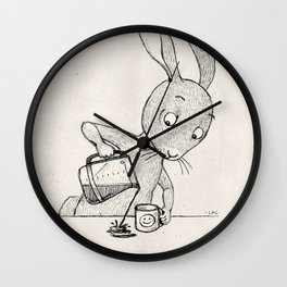 Crooked Coffee Wall Clock