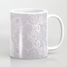 Powder Pink Watercolor Ornate Coffee Mug