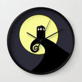 Tardis Black Nightmare Wall Clock