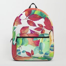 Watercolor Autumn Leaves Backpack