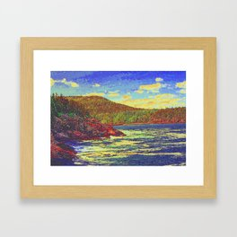 day at the lake  Framed Art Print