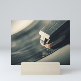 Music From a Vintage 45 RPM Record Playing on a Turntable Mini Art Print
