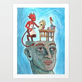 An Idle Mind Is The Devil's Workshop Art Print