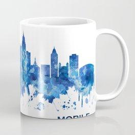Mobile Alabama Skyline Blue Coffee Mug
