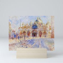 "Auguste Renoir ""The Piazza San Marco, Venice"" Mini Art Print"