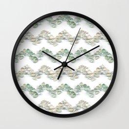 Sea glass - chevron stripe Wall Clock
