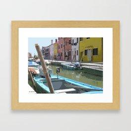 Barca de Burano Framed Art Print