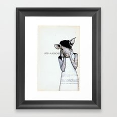 Pig Girl & The Games Framed Art Print