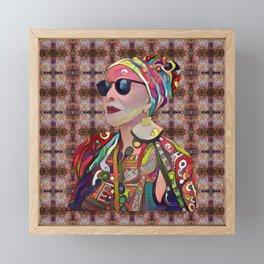Portrait of a Fancy Lady Framed Mini Art Print