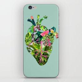Botanical Heart Mint iPhone Skin