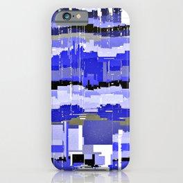 Blue hatches iPhone Case