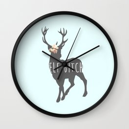 Elf Bitch Wall Clock