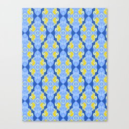 Patterns: Yellow Sages Canvas Print