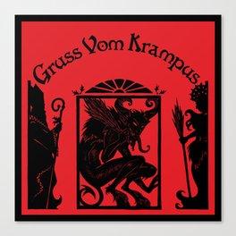 Gruss Vom Krampus Canvas Print