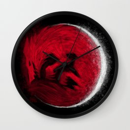 Super Blood Wolf Moon Wall Clock