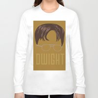 dwight schrute Long Sleeve T-shirts featuring Dwight and you by Ally Simmons