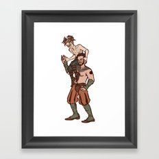 but we are spirits of another sort Framed Art Print