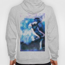 Degas The Dancer Turquoise Teal Dream Hoody
