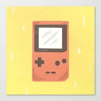 gameboy Canvas Prints featuring Gameboy by Things and Other Things