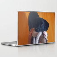 nemo Laptop & iPad Skins featuring Nemo the Dog by Allyson Rico