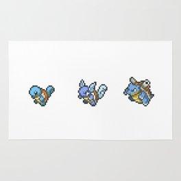 Blue Evolutions Squirtle/Wartortle/Blastoise Rug