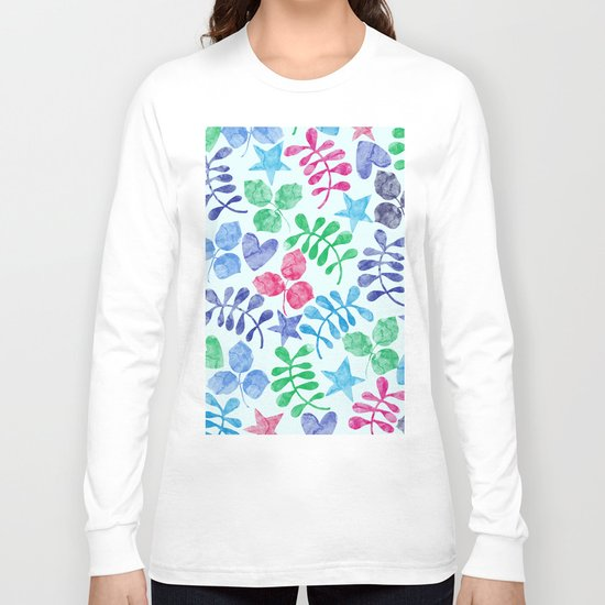 Watercolor Floral Pattern II Long Sleeve T-shirt