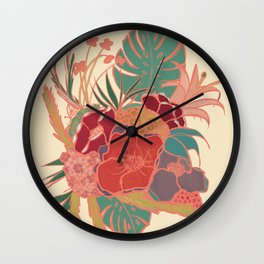 Vintage Floral Tropical - Market + Supply Wall Clock