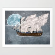 the wing ship Art Print