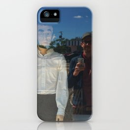 the adventures of Ghost Abe and me in Damnville iPhone Case