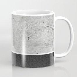 Raw Concrete and Black Leather Coffee Mug