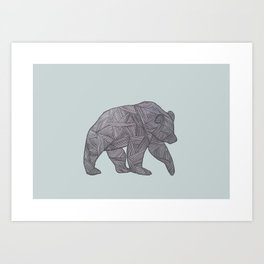 Bear. Art Print