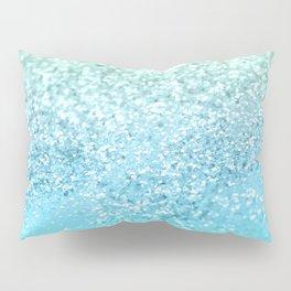 Seafoam Aqua Ocean MERMAID Girls Glitter #1 #shiny #decor #art #society6 Pillow Sham