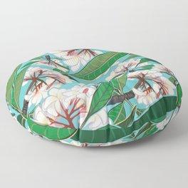 Plumerias Floor Pillow