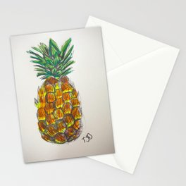Pineapple sketch Stationery Cards