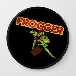 Frogger Cabinet Art Wall Clock