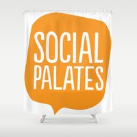 logo Shower Curtains featuring LOGO by Social Palates Photography