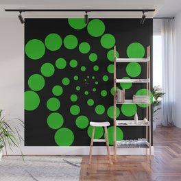 green fat spiral Wall Mural