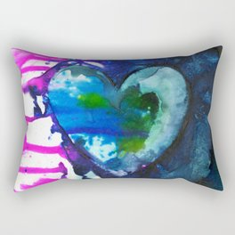 Eternal Heart No. 13 by Kathy Morton Stanion Rectangular Pillow