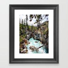 Marble Falls Alberta Canada Framed Art Print