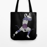 clint barton Tote Bags featuring Clint Barton by MajesticSeahawk Designs