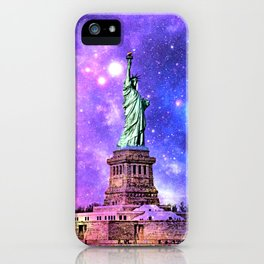 space Statue of Liberty iPhone Case