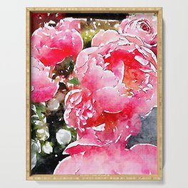 Painted Roses Serving Tray