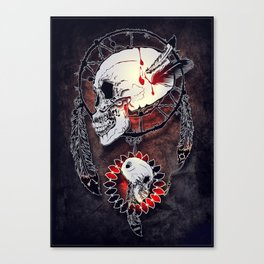 Dream Catcher Skull Canvas Print