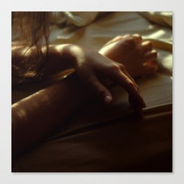 Hands in Light and Shadow Canvas Print