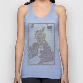 Vintage Map of The British Isles (1818) Unisex Tank Top