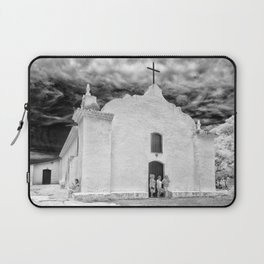 Church Black and White Laptop Sleeve