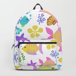 Colourful ocean fish Backpack
