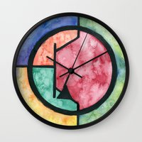 transistor Wall Clocks featuring Watercolor NPN BJT by EEShirts