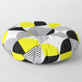 Colorful geometry 9 Floor Pillow